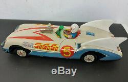 Aoshin Vintage Speed Racer Japanese friction tin toy car Mach Go Go Go w box