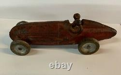 Arcade Hubley Kenton Antique Cast Iron Vintage Toy 2 Man Bullet Racer Race Car