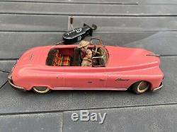 Arnold Toys Tinplate Primal Car In Pink With Remote Vintage Original Rare