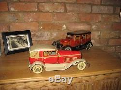Art Deco Tippco Coupe Car 1930 Germany Tin Litho Toy Tinplate Antique Tipp Co