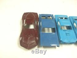 Aurora Vintage HO TJET Slot Car Lot of 7 Bodies Corvette Firebrid Torino & More