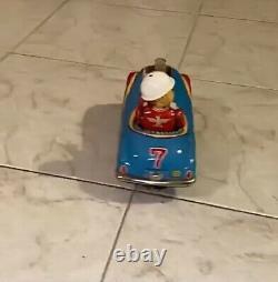 Auto Latta Japan Hot Rod Masudaya Battery Op. Vintage Toy Tin Toy Car Hotrod
