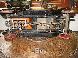 BIG 1919 Structo Deluxe Roadster #12 clockwork pressed steel tin toy antique car