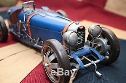 BUGATTI tin toy tinplate car blechmodell auto voiture tole buriki handmade