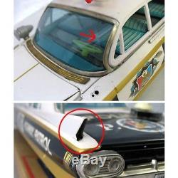 Bandai Cadillac Friction Car Tin Toy Recording patrol 1960 Vintage Rare Japan FS