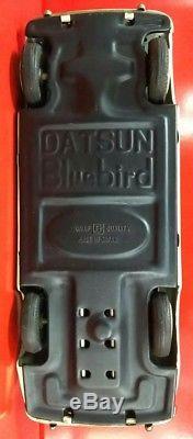 Bandai Friction Tinplate Datsun Bluebird car MADE in JAPAN RARE vintage F/S
