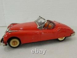 Bandai Japan 9.5 Tin Friction Jaguar XK Convertible Toy Car