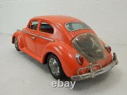 Bandai Japan VW Volkswagen Beetle 14.5 Battery Operated Bump N Go Bug King Car