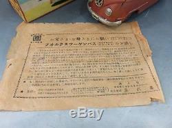 Bandai Volkswagen bus Vintage Toy Car 1960s Japan Friction Tin Made in Japan