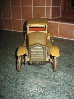 Big Tinplate Car 1920/30 Clockwork Tin Toy Germany Antique Vintage Old Original