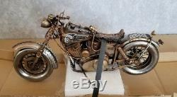 Bike motorcycle tin toy tinplate car handmade vintage chopper