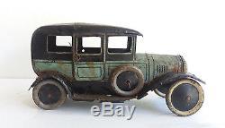 Bing tin old-timer Sedan Limousine wind-up clockwork tin car, 1920's Germany-RARE