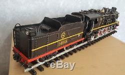 Black communist soviet TRAIN STEAM with CAR tin tinplate handmade replica retro