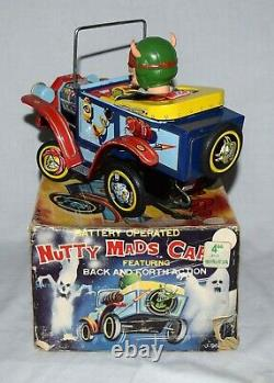 Boxed Marx Battery Operated Nutty Mads Car Worldwide Shipping