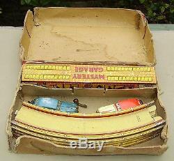 British Marx Mystery Garage tin car track toy English version of Mystery Tunnel