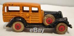 C1930 Hubley Take Apart Station Wagon with Side Mount Tires