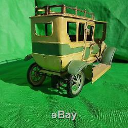 Carette Like Antique Tin Toy Car Circa 1905 / 1910 Pullmann