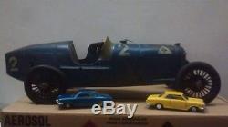 CIJ 1930's VINTAGE FRENCH ANTIQUE TOY CLOCKWORK RACING CAR 20 1/2 l