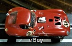 COX VINTAGE 1/24 1/25 GOOD CHEETAH SLOT CAR RED with RUNNING CHASSIS KB AMT MPC