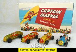 Captain Marvel Lightning Race Cars set 4 original 1947 working racers SEE MOVIE