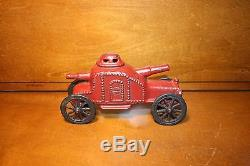 Cast Iron Painted Armoured Car by A. C. Williams cir. 1914 Transportation Toy
