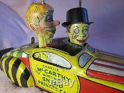 Charlie McCarthy and Mortimer Snerd Private Car, Marx Windup, 1939