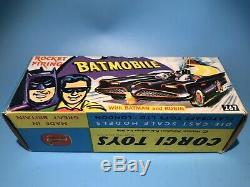 Corgi Toys 267 Vintage Batman Batmobile Car Original Outer Box Excellent Rare