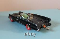 Corgi Toys 5.4 BATMOBILE Black Diecast CAR Vintage No267 Batman RARE Red Wheels