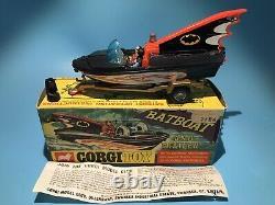 Corgi Toys Vintage 107 Batman Glastrom Batboat Original Boxed Set Excellent Rare