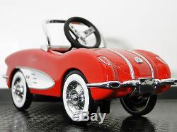 Corvette Pedal Car 1950s Vette Chevy Vintage Metal Collector READ DESCRIPTION