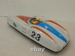 Cragstan Japan No. 23 Pre Speed King Tin Friction Racing Mercedes Racer Car