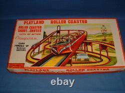 Cragstan Japan Playland Tin Roller Coaster and Two Windup Cars, Original Box
