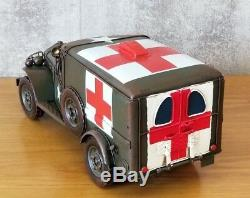 DODGE USA ARMY TRUCK tin tinplate car auto medical handmade rescue red cross