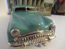 Distler 7000 Tinplate Electro Car Turquoise Made In West Germany (boxed)