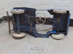 Early Vintage Triang Lines Bros Jeep Pedal Car