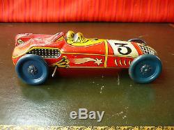 Extremely Rare Pre-war 1930s Japan KS Kaname Tin Wind-up Rocket Race Car Racer