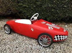 Ferrari 156 Sharknose F1 1960's Vintage Metal Pedal Car Morellet Guerineau