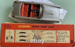 Ferrari 250 GT BANDAI Gear shift Japan w Box tinplate car rare battery operated