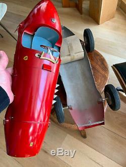 Ferrari 500 F2 1954 Toschi Rare Vintage Metal Italian Race Car Toy