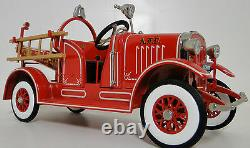 Ford Fire Engine Truck Pedal Car Too Small to Ride On Metal Body Model