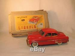 Fresh to Market Lincoln Friction Car Tin Toy ORIGINAL BOX Japan'Modern Toy