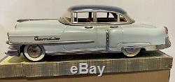GAMA CADILLAC 300 FRICTION Tin Berlina Car LIGHT BLUE Germany 1950s BRAND NEW