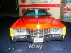 GIANT Vintage 1967 Cadillac Eldorado Ichiko 28 (71 cm) Japan Tin Car GORGEOUS
