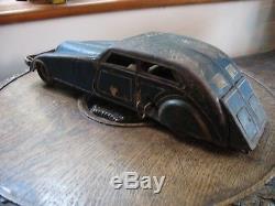GUNTHERMANN LARGE ART DECO CAR LIMO CRUISER Germany CLOCKWORK tinplate tin toy