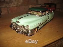 Gama 1954 Cadillac Original Green Rare Battery Tinplate Car Germany Tin Toy