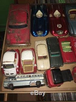 Graveyard Lot Of 52 Tin Litho Friction Cars Rare HTF Japan