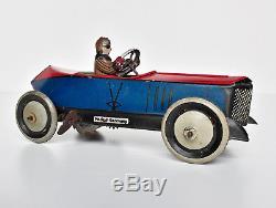 Greppert & Kelch G&K Gundka 543 tinplate clockwork Racing Car tin toy Germany EX
