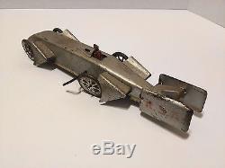 Gunthermann / Günthermann Sunbeam Silver Bullet Wind Up Tin Car Germany 1900's