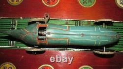 Gunthermann Record Car'mark 1' race clockwork tinplate c1929 works Germany bing