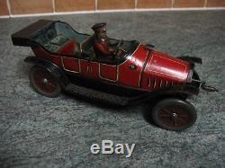 HESS CAR ANTIQUE HESSMOBIL ORIGINAL WORKING BIG TIN TOY 1910's GERMANY TINPLATE